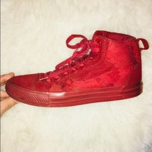 Converse High Tops in Red